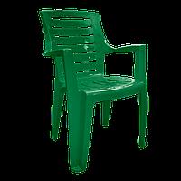 Садовый стул пластиковый Рекс Зеленый