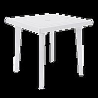 Квадратный пластиковый стол 80 см Белый