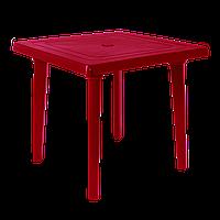 Стол квадратный пластиковый 80 см Вишневый