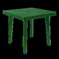 Квадратный пластиковый стол Алеана 80 см Зеленый