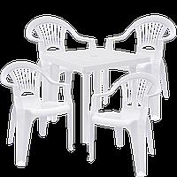 Набор пластиковой мебели Алеана Белый (ЛУКВАД 4b)