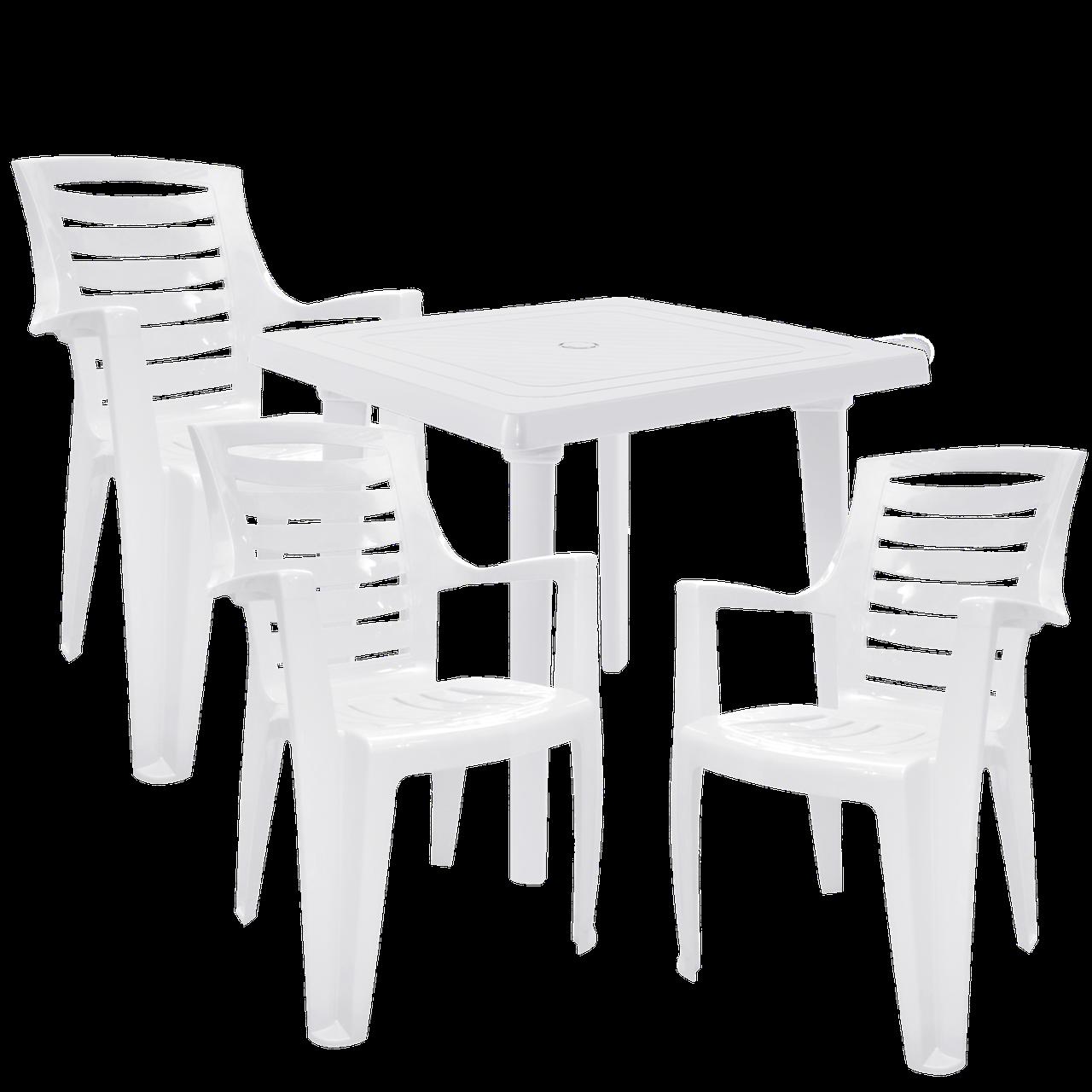 Уличная мебель Белый (РЕКВАД 3b)