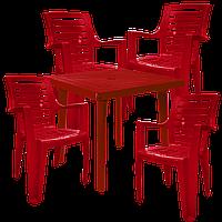 Комплект мебели для сада Вишневый  (РЕКВАД 4v)