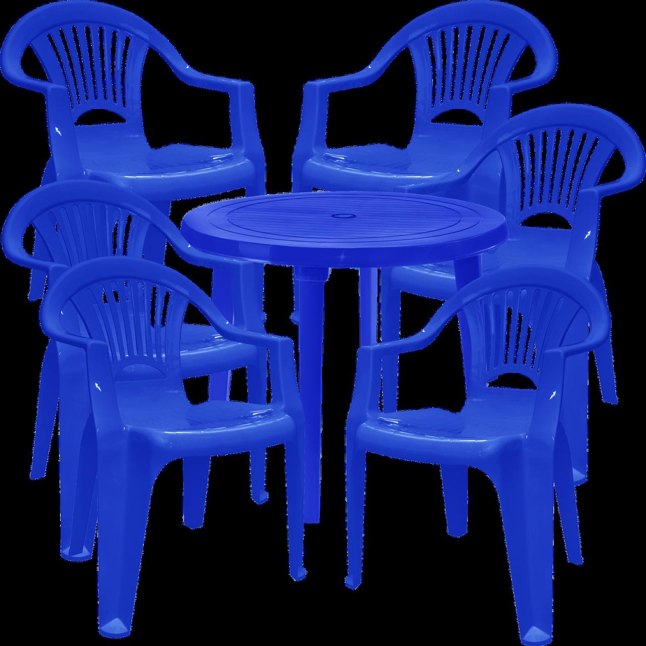 Комплект мебели для улицы Синий (ЛУКРУ 6s)