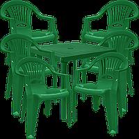 Набор пластиковой мебели Алеана Зеленый (ЛУКВАД 6z)
