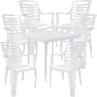 Набор пластиковой мебели Алеана Белый (РЕКВАД 6b)
