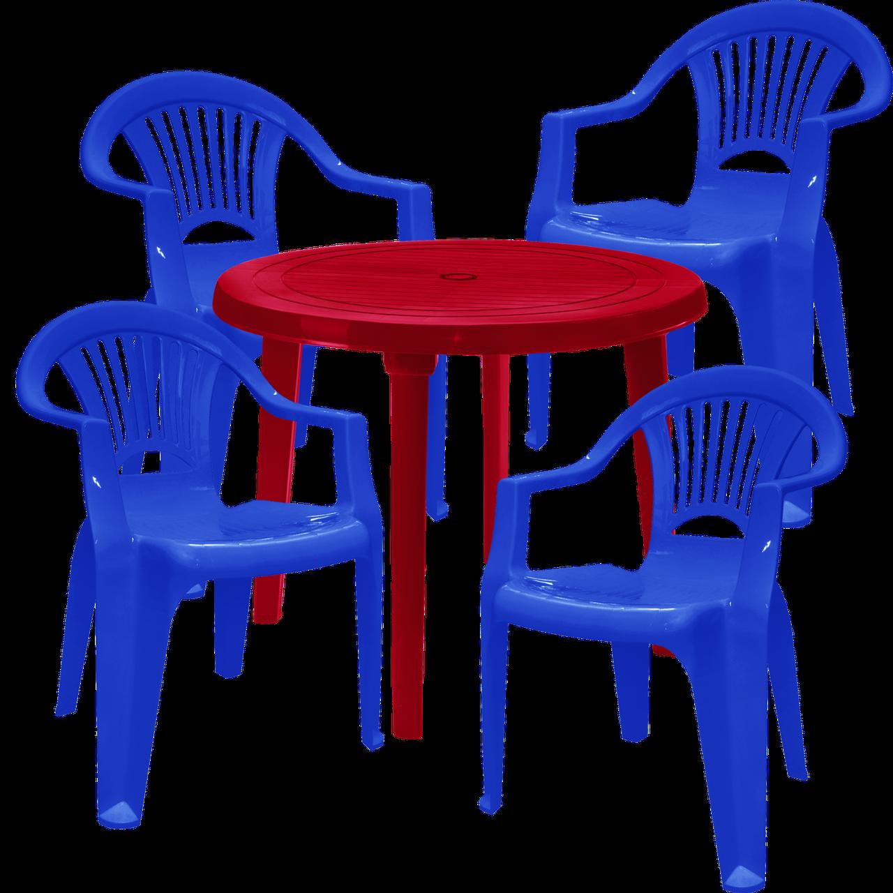 Набір пластикових меблів Алеана Різнобарвний (ЛУКРУ 4sv)