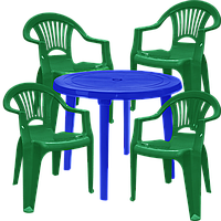 Набор пластиковой мебели Алеана Разноцветный  (ЛУКРУ 4zs)