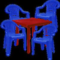 Набор пластиковой мебели Алеана Разноцветный (ЛУКВАД 4sv)