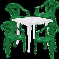 Набор стол и стулья  Разноцветный (ЛУКВАД 4zb)