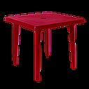 Комплект пластиковых стульев и стол Разноцветный (ЛУКВАД 4zv), фото 2