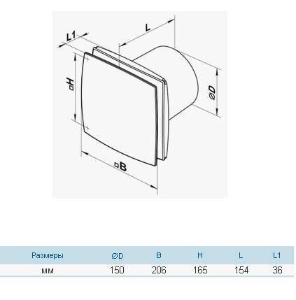 Бытовой вентилятор Вентс 150 ЛД, фото 2