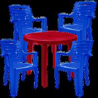 Пластиковая мебель для дачи Разноцветный (РЕКРУ 4sv)