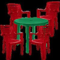 Садовая мебель. Стулья пластиковые Разноцветный (РЕКРУ 4vz)