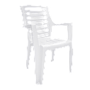 Стол пластиковый, стулья для сада Разноцветный (РЕКВАД 4bz), фото 2