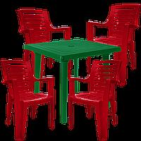 Набор пластиковой мебели Алеана Разноцветный (РЕКВАД 4vz)