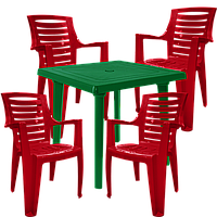 Набор садовой  мебели пластиковой Разноцветный (РЕКВАД 4vz)