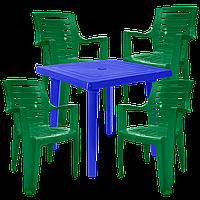 Пластиковая садовая мебель Разноцветный (РЕКВАД 4zs)