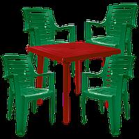 Набор пластиковой мебели Алеана Разноцветный (РЕКВАД 4zv)