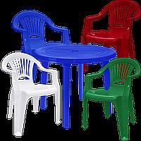 Мебель пластиковая для базы отдыха Разноцветный  (ЛУКРУ 4mixs)