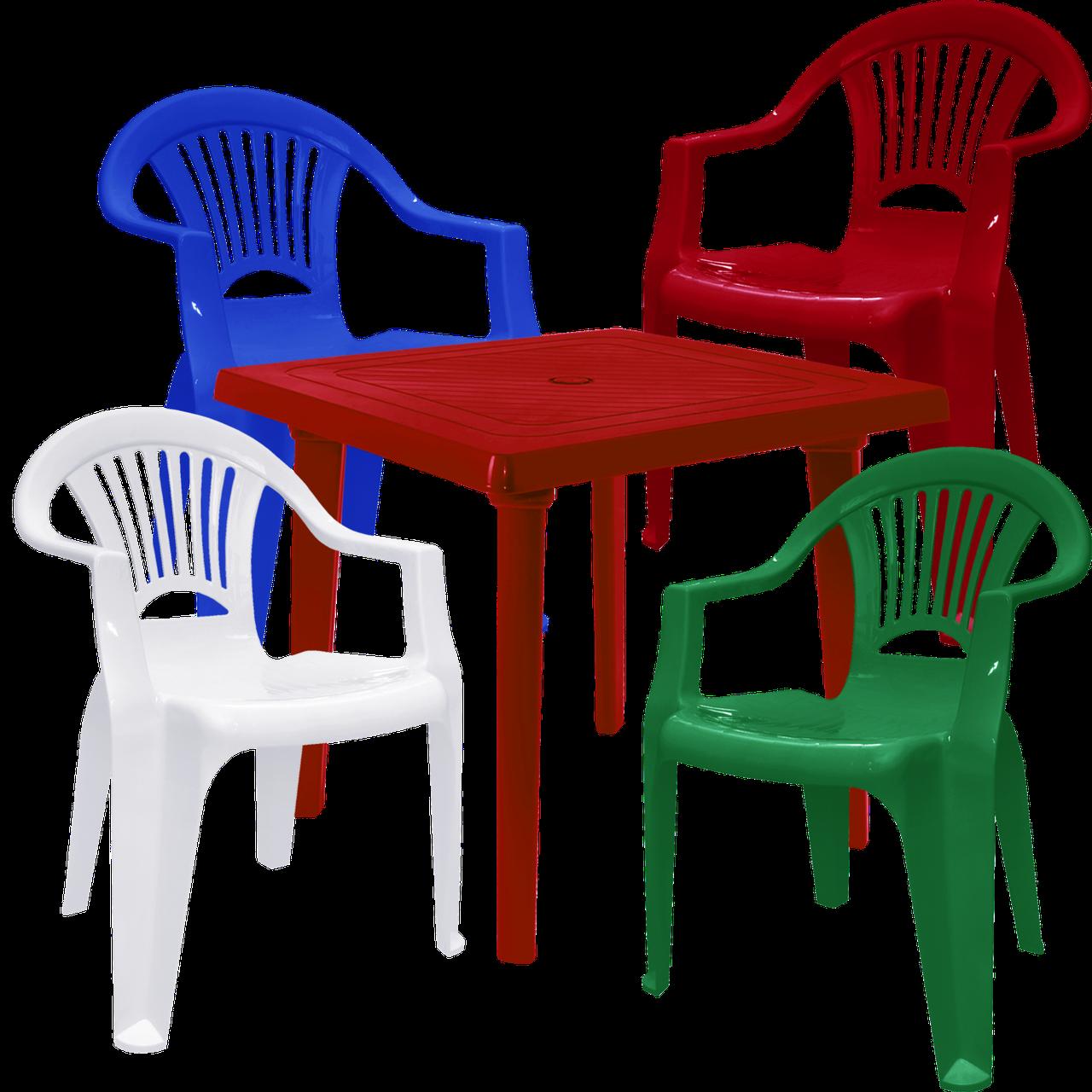 Набор мебели пластиковой Разноцветный (ЛУКВАД 4mixv)
