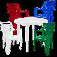 Мебель пластиковая для дома и сада Разноцветный (РЕКРУ 4mixb)