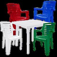 Набор пластиковой мебели Алеана Разноцветный (РЕКВАД 4mixb)