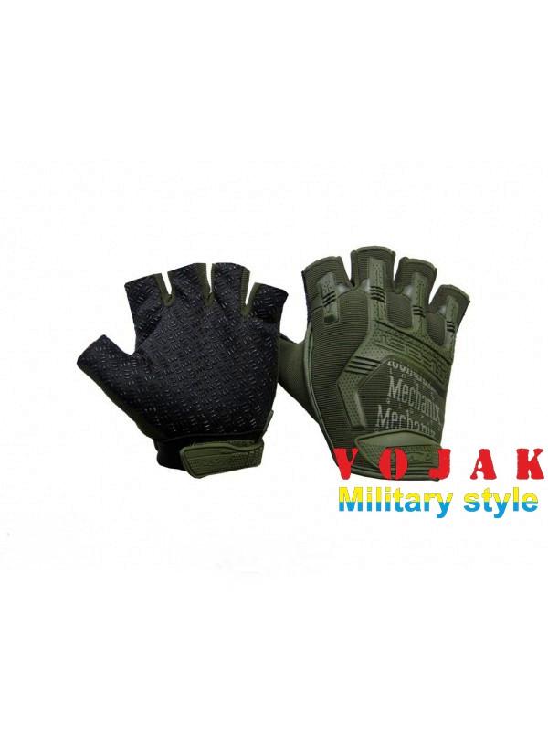 Перчатки короткопалые Mechanix M-Pact Fingerless Olive