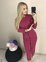 Малиновое платья нарядное