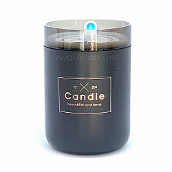 Стильный мини увлажнитель воздуха, ароматизатор и освежитель воздуха с подсветкой (черный)