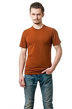 Мужская футболка из стрейч-коттона классического кроя по фигуре, горчичная