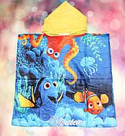 Полотенце детское Рисунок с капюшоном хлопок