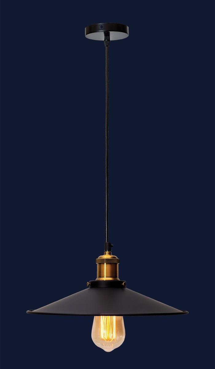 Підвісний світильник у стилі лофт з плафоном 752PB9-1 BK