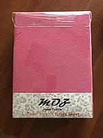 Махровая простынь с резинкой 220х240 см и две наволочки 50х70 см цвет красный