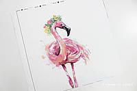 Панелька сатин Фламинго 40*40