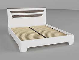 Кровать Неман Элен белый супермат + дуб шато 160х200 см