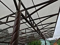 Терраса - Навес для автомобиля - производство и монтаж под монолитный поликарбонат