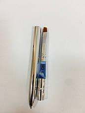 Трансформер кисть для геля - скошенная  (металлическая), фото 3