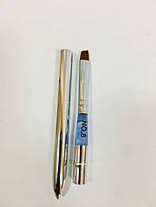 Трансформер кисть для геля - скошенная  (металлическая), фото 2
