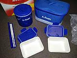 Ланчбокс (термос пищевой) с сумкой A-PLUS 1670, 500 мл + палочки, фото 3