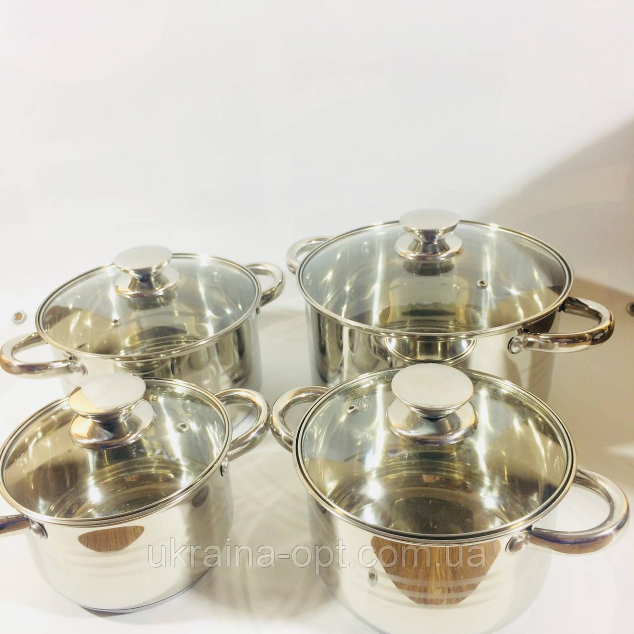 Набор посуды из 4 кастрюль с крышками (2.1 / 2.9 / 3.9 / 6.2 л)