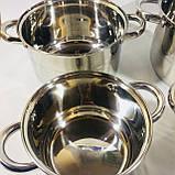 Набор посуды из 4 кастрюль с крышками (2.1 / 2.9 / 3.9 / 6.2 л) , фото 4