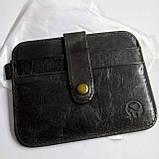 Кожаный картхолдер «Geeson» на 5 отделений темный кофе, фото 8