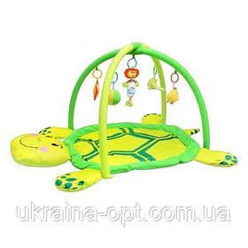 """Музыкальный коврик """"Мягкая черепаха"""". Подвесные игрушки. Веселые мелодии. Код/Артикул  898-12 B"""