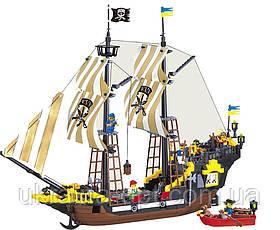 """Конструктор """"Пиратский корабль"""". Деталей: 590. Фигурки пиратов: 6 шт. Brick 307"""