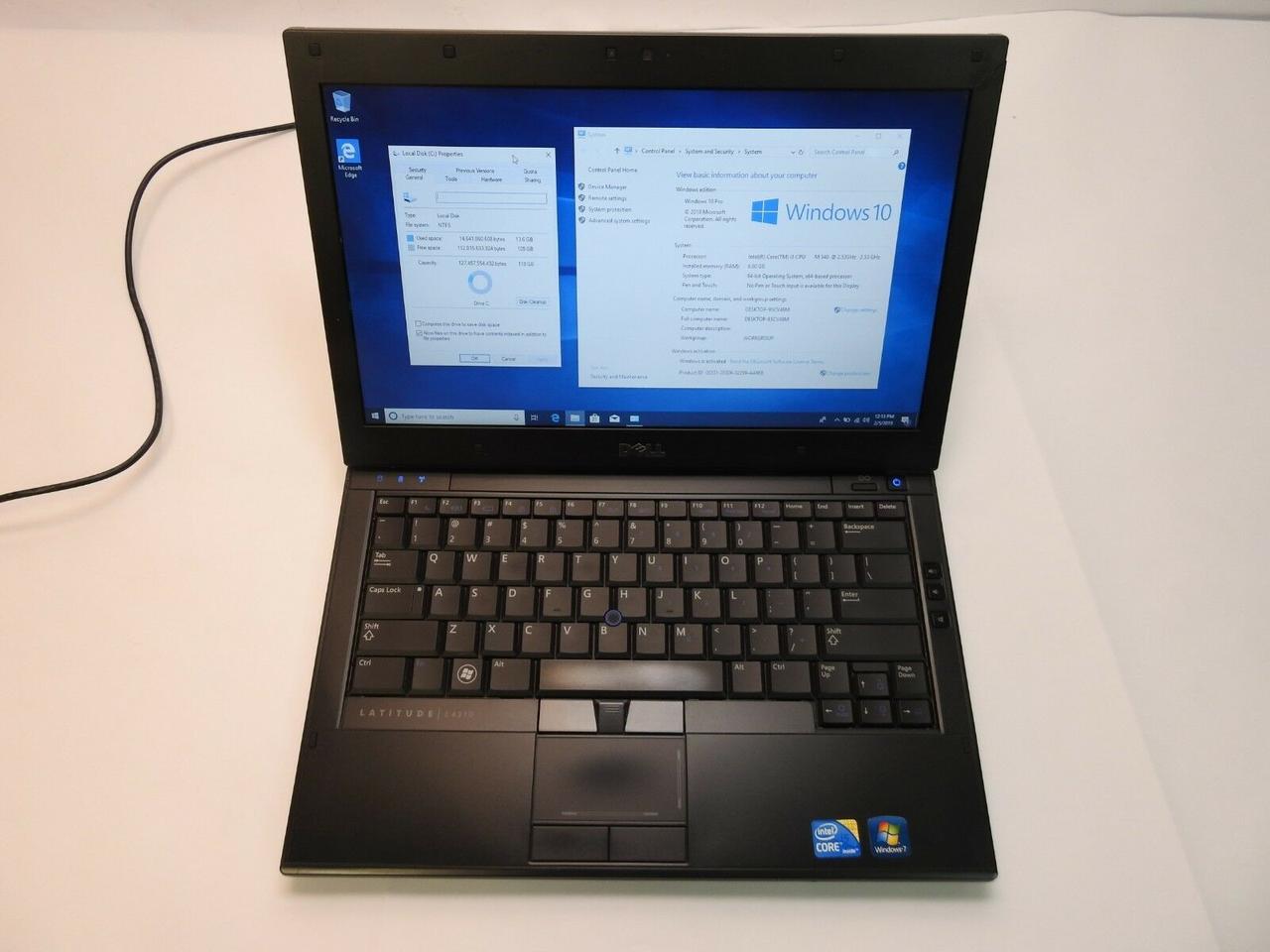 Ноутбук, notebook, DELL e4310, 2 ядра по 2,9 ГГц, 4 Гб ОЗУ, HDD 320 Гб
