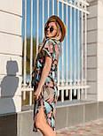 Женское платье с геометрическим принтом с поясом, фото 2