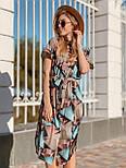 Женское платье с геометрическим принтом с поясом, фото 3