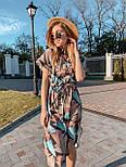 Женское платье с геометрическим принтом с поясом, фото 5