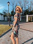 Женское платье с геометрическим принтом с поясом, фото 4